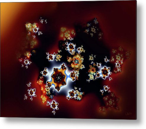 Fractal Metal Print featuring the digital art Untitled For Now by Debra Martelli