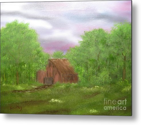 Barn Metal Print featuring the painting Untitled by Todd Androy
