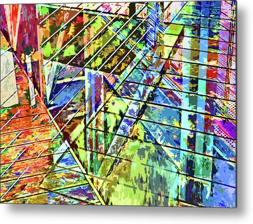 City Metal Print featuring the photograph Urban Abstract 115 by Don Zawadiwsky