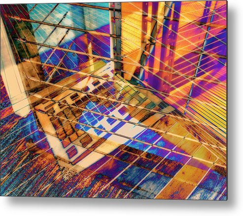 City Metal Print featuring the photograph Urban Abstract 423 by Don Zawadiwsky