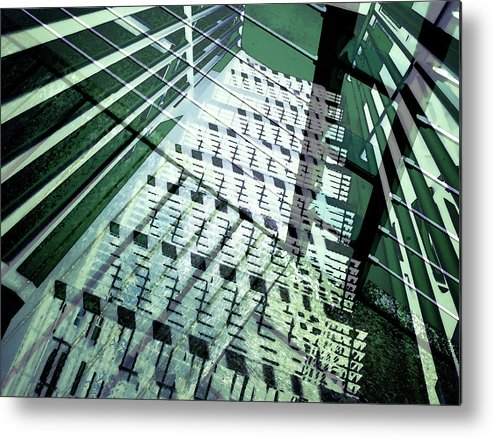 City Metal Print featuring the photograph Urban Abstract 442 by Don Zawadiwsky