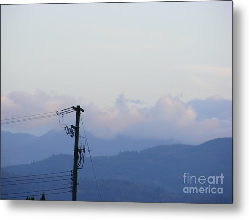 Sky Metal Print featuring the photograph Utility Pole by Attila Jacob Ferenczi