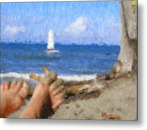 Metal Print featuring the painting Vacation by Jonathan Galente