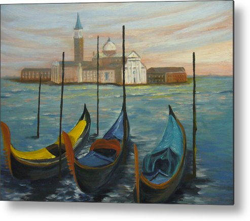 Italy Metal Print featuring the painting Venice by Joe Lanni
