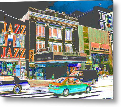 Harlem Metal Print featuring the photograph Victoria Theater 125th St Nyc by Steven Huszar