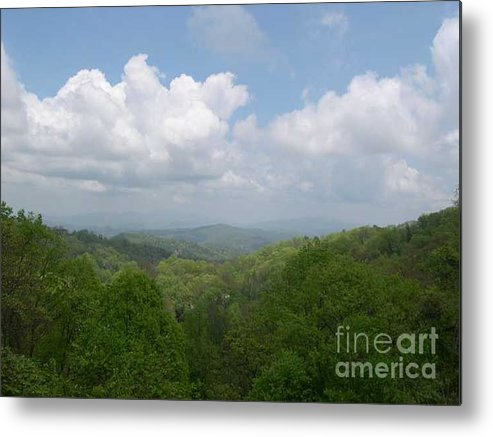 Mountains Metal Print featuring the photograph View From Ober Gatlinburg by Barb Montanye Meseroll