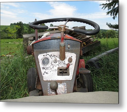 Vintage Metal Print featuring the photograph Vintage Tractor by Kenneth Summers