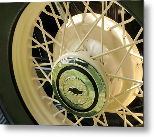 Vintage Metal Print featuring the photograph Vintage Yellow by Richard Mansfield