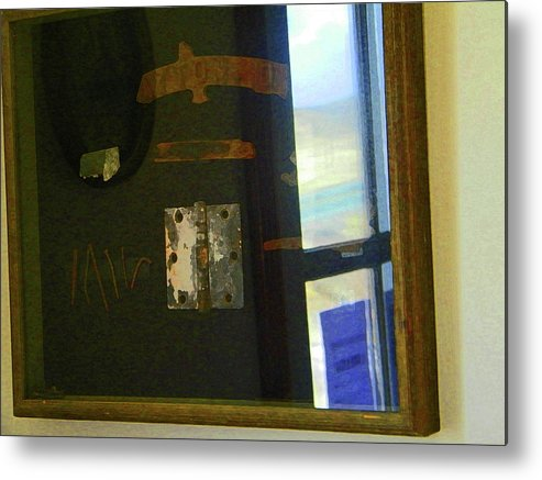 Abstract Metal Print featuring the photograph Virginia Dale Burn Relics by Lenore Senior