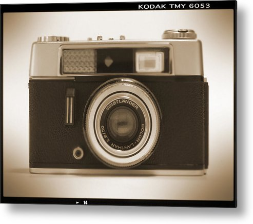 Vintage 35mm Camera Metal Print featuring the photograph Voigtlander Rangefinder Camera by Mike McGlothlen
