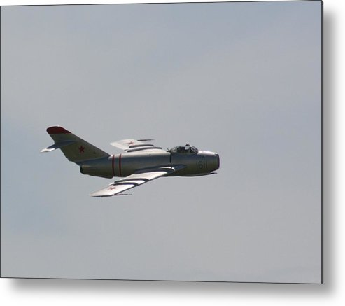 Airplane Metal Print featuring the photograph Wafb 09 Mig 17 Russian 3 by David Dunham