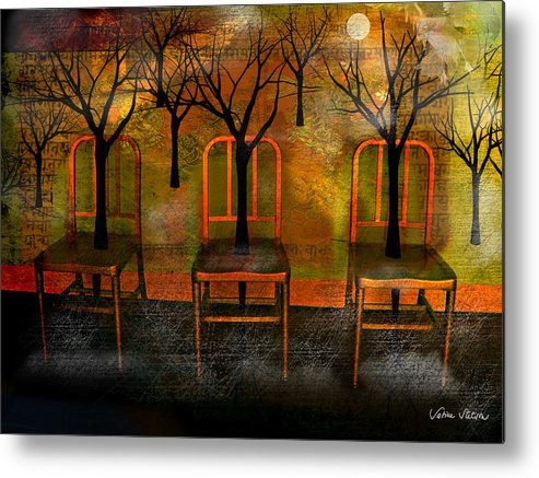 Moon Metal Print featuring the digital art Waiting For A Miracle by Sabine Stetson
