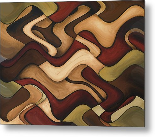 Red Metal Print featuring the painting Warm Earth by Vicky Brago-Mitchell
