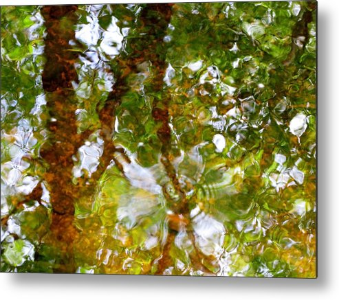 Abstract Metal Print featuring the photograph Water Abstract 17 by Joanne Baldaia - Printscapes