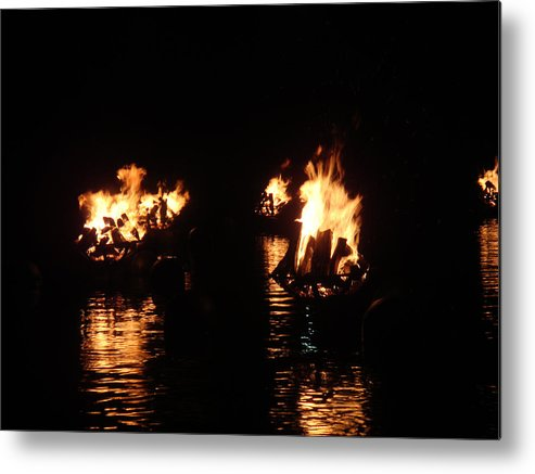 Water Fire Metal Print featuring the photograph Water Fire by Jeff Porter