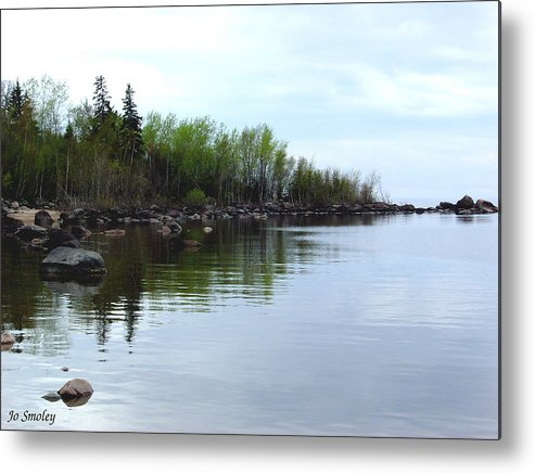 Grand Beach Shoreline Metal Print featuring the photograph Water Like Glass by Joanne Smoley