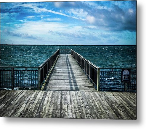 Solitude Metal Print featuring the photograph Water Watching by Bret Blakely