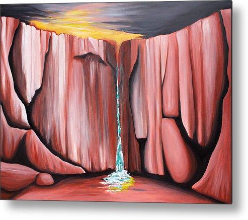 Waterhole Metal Print featuring the painting Waterhole by Bonnie Kelso