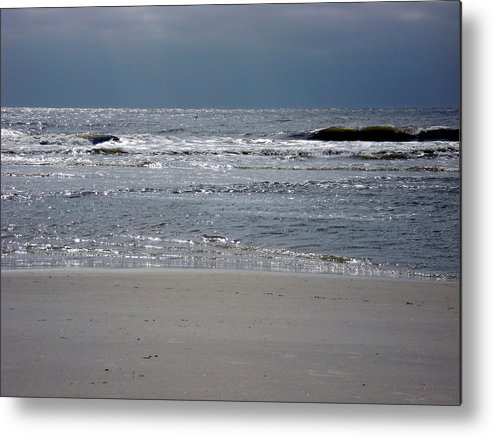 Waves Metal Print featuring the photograph Waves by Mindy Newman