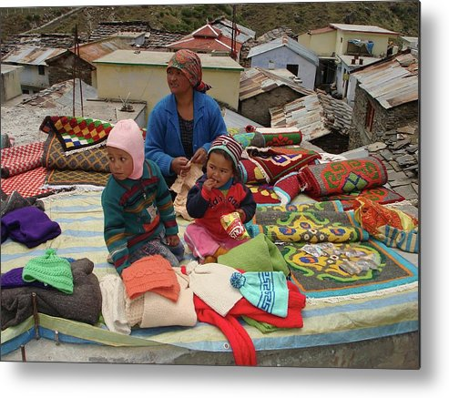 Himalayas Metal Print featuring the photograph Weaving Colors by Sonya Ki Tomlinson