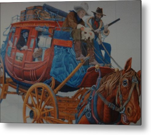 Mural Metal Print featuring the photograph Wells Fargo Stagecoach by Rob Hans