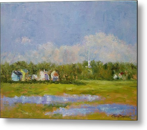 Metal Print featuring the painting Wells Maine by Elaine Bigelow