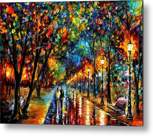 Landscape Metal Print featuring the painting When Dreams Come True by Leonid Afremov