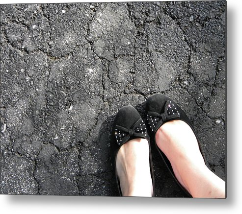 Pavement Metal Print featuring the photograph When Fashion Hits The Pavement by Karissa DeYoung
