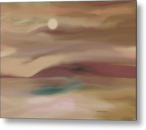 Abstract Metal Print featuring the painting When I Am Quiet by Lenore Senior