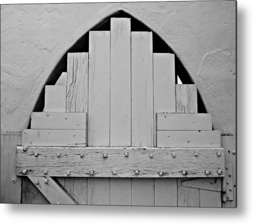 White Metal Print featuring the photograph White Door by Patricia Strand