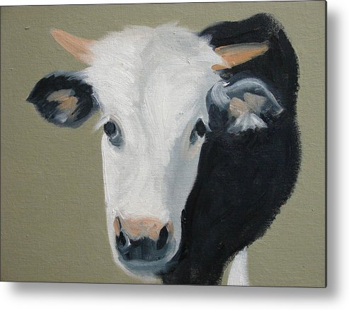 Cattle Metal Print featuring the painting Who You Lookin At by Robert Rohrich
