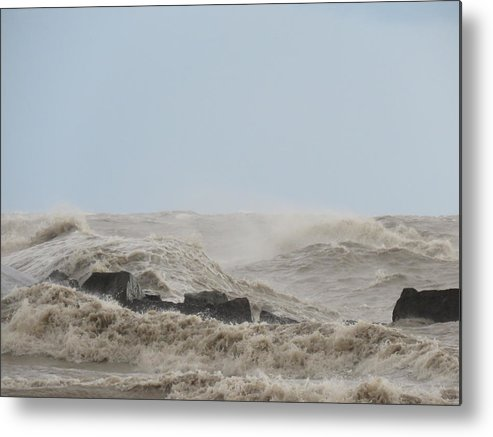 Waves Metal Print featuring the photograph Wild Lake by Brenda Dowell