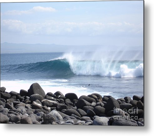 Landscape Metal Print featuring the photograph Wild Wave by Chad Natti