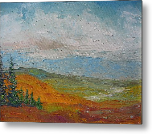 Landscape Metal Print featuring the painting Wilderness by Belinda Consten