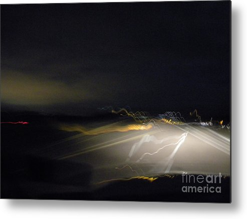 Night Sky Metal Print featuring the photograph Windblown Colors by Chuck Taylor