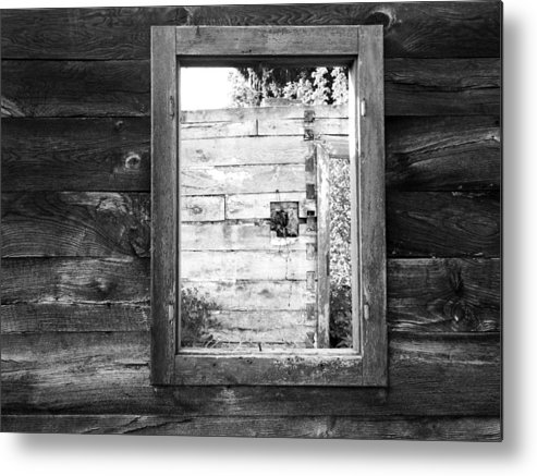 Karlovac Metal Print featuring the photograph Window Frame by Helena Jajcevic