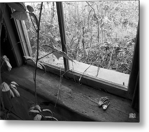 B/w Metal Print featuring the photograph Window Of The Past by Michele Caporaso