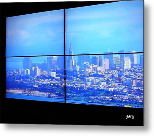 san Francisco Metal Print featuring the photograph Window View Of San Francisco by Gary Roy