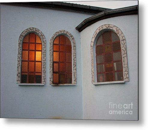Architectual Metal Print featuring the photograph Windows by Iglika Milcheva-Godfrey