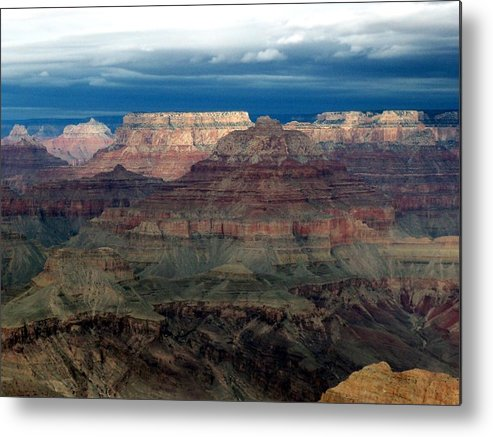Grand Canyon National Park Metal Print featuring the photograph Winter Approaching by Carrie Putz