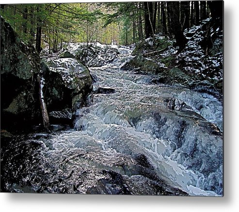 Winter Metal Print featuring the photograph Winter Brook by Peter Gray