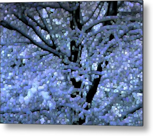 Abstract Metal Print featuring the digital art Winter Light by Dave Martsolf