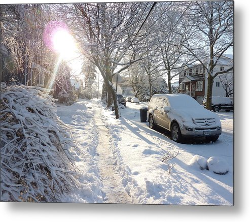 Brooklyn Metal Print featuring the photograph Winter Morning by Kate Leikin