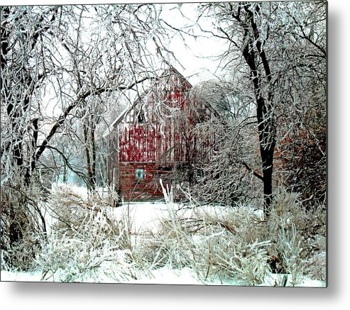 Christmas Metal Print featuring the photograph Winter Wonderland by Julie Hamilton