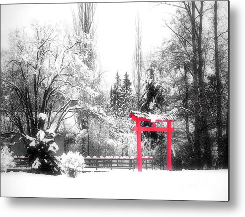 Japanese Gardens Metal Print featuring the photograph Winter's Entrance by Tara Turner