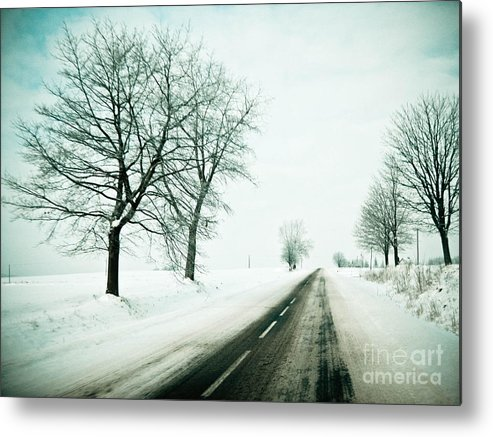 Winter Metal Print featuring the photograph Winters Tale by Marta Grabska