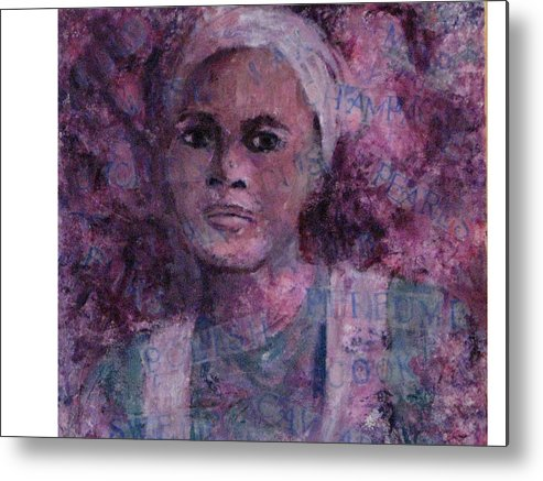 Woman Metal Print featuring the mixed media Wishful Thinking by Connie Freid
