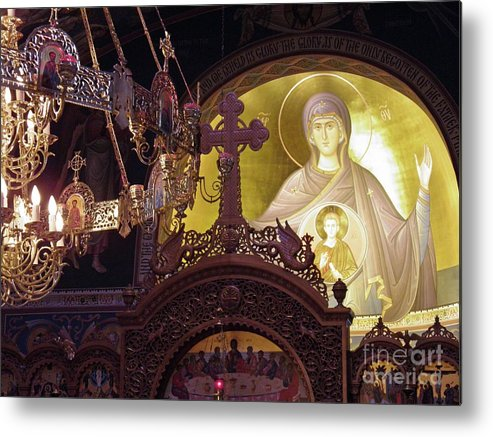 Christ The Savior Orthodox Cathedral Metal Print featuring the photograph Worship Space 2 by Sarah Loft
