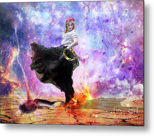 Worship Warrior Metal Print featuring the digital art Worship Warrior by Dolores Develde