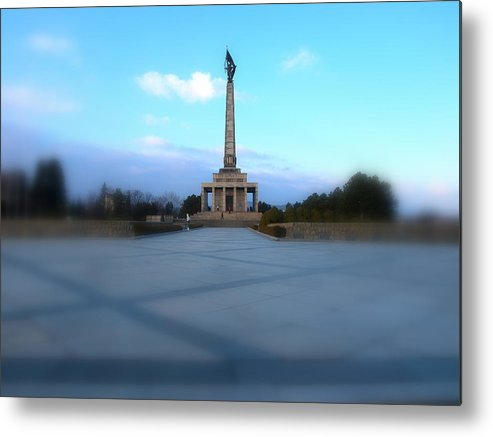 Slavin Metal Print featuring the photograph Ww2 Monument by Tomas Trojcak